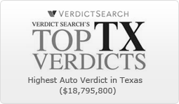 Highest Auto Verdict in Texas in 2011